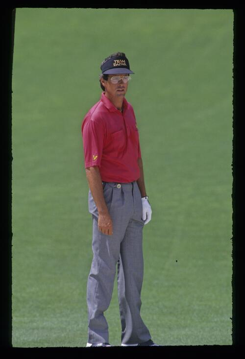 Ian Baker Finch considering his options during the 1992 Masters