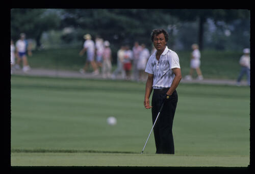 Isao Aoki during the 1989 USPGA
