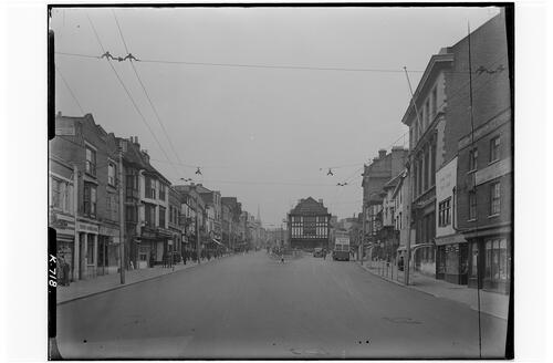 The High Street from Bridge, Maidstone.