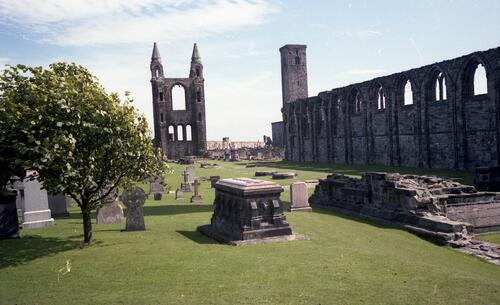 The Nave looking south east, St Andrews Cathedral.