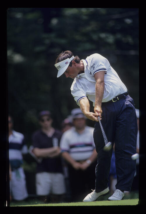 Fred Couples driving during the 1993 US Open