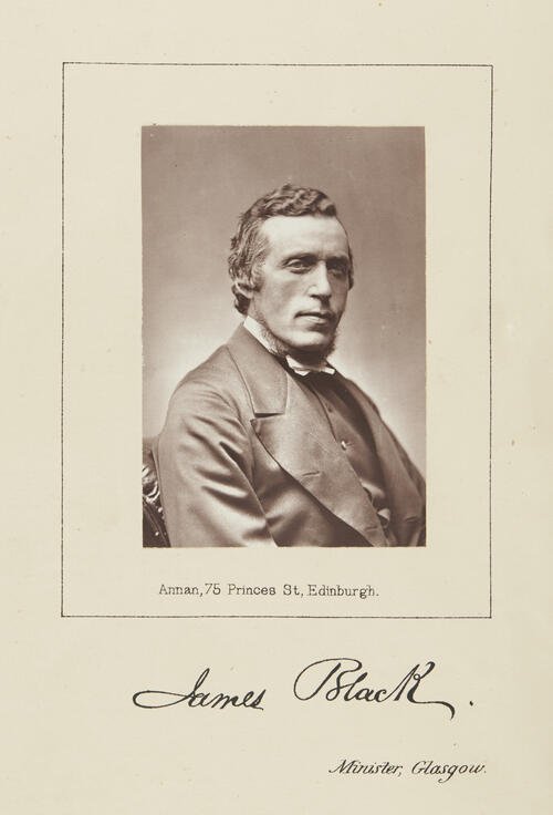 [Portrait of Rev James Black, Minister, United Presbyterian Church, Glasgow 1876]