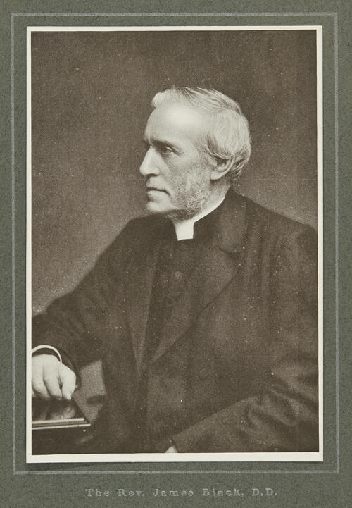 [Portrait of Rev James Black, Minister, United Presbyterian Church, Glasgow 1905]