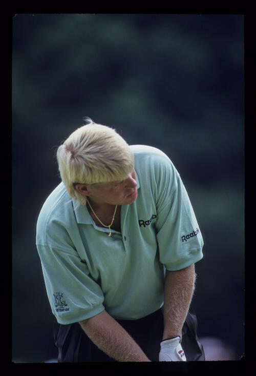 John Daly over a putt during the 1993 US Open