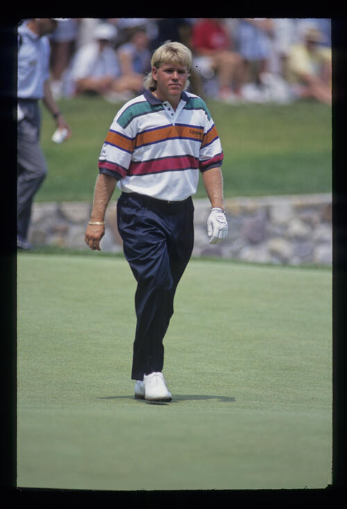 John Daly on the green during the 1993 US Open