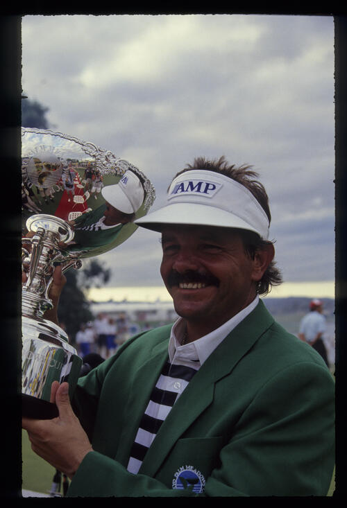 Rodger Davis with the 1990 Palm Meadows Cup