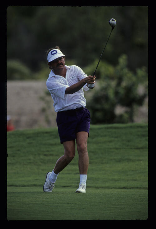 Rodger Davis in shorts during the 1988 Bicentennial Classic