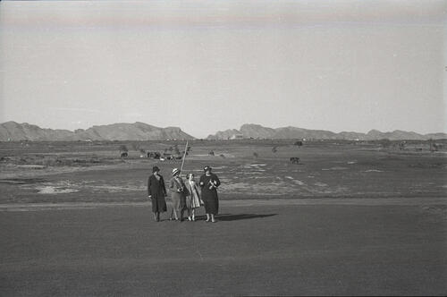 The Russell family on the plain outside Alcudia, Majorca.