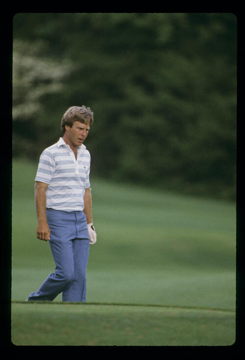 A thoughtful Ben Crenshaw during the 1984 Masters