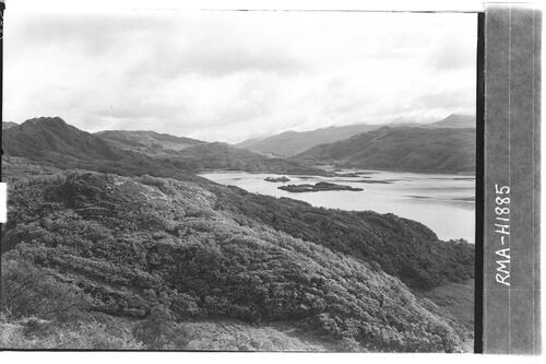 Loch nan Uamh and woodlands.