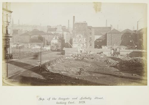 Top of the Seagate and Gellatly Street, looking East [Dundee]. 1879