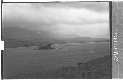 Loch Doon with Castle Island.