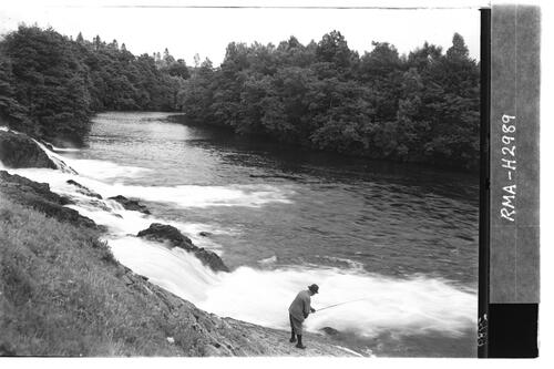 Angler at Falls of Mucomir.