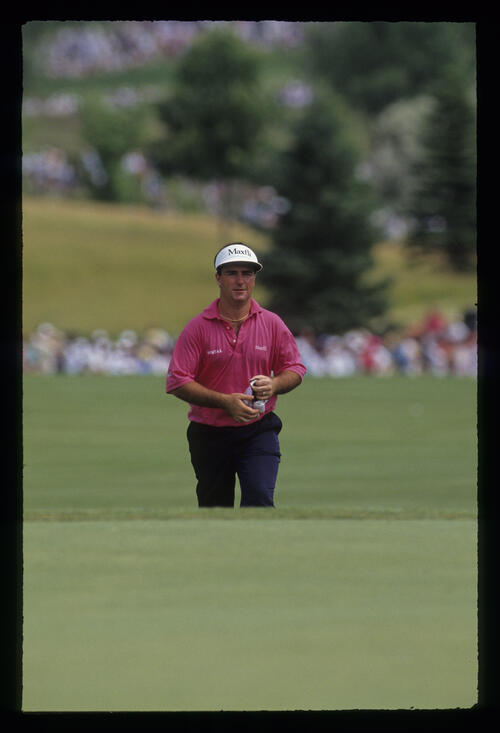 Craig Parry approaching the green during the 1991 US Open