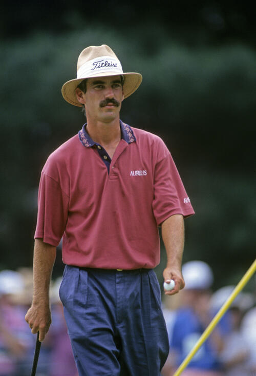 Corey Pavin looking determined during the 1993 US Open