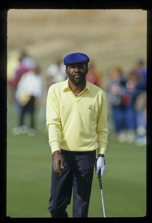 Calvin Peete walking after a putt on his way to sixth place during the 1987 Phoenix Open