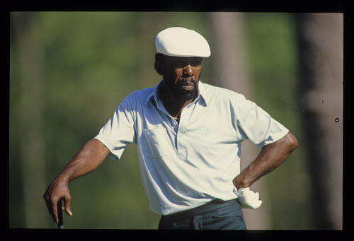 Calvin Peete on the tee during the 1987 Masters