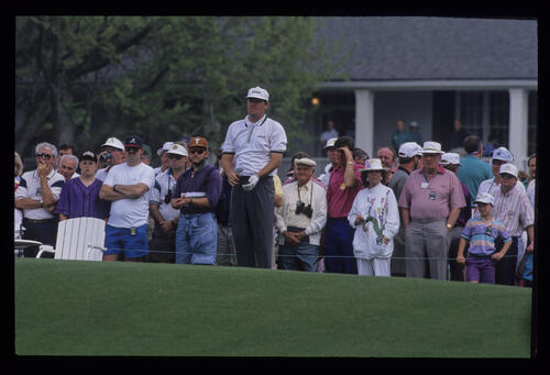 Steven Richardson watching a shot closely during the 1992 Masters