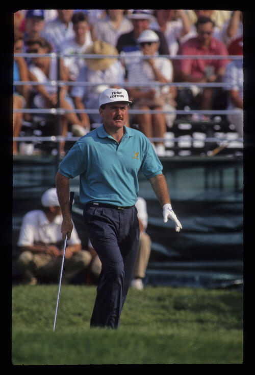 Ronan Rafferty leaving the tee during the 1991 US Open