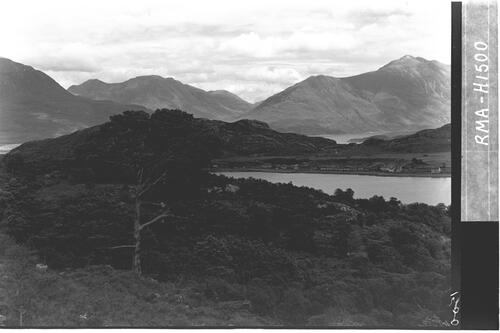 Shieldaig village and hills.
