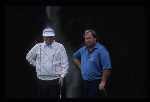 Craig Stadler and Ray Floyd together during the 1992 US Open