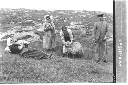 Islanders at work, Barra.