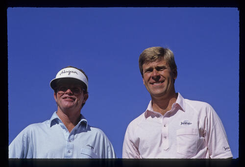 Hal Sutton and partner, Tom Kite, during the 1989 RMCC