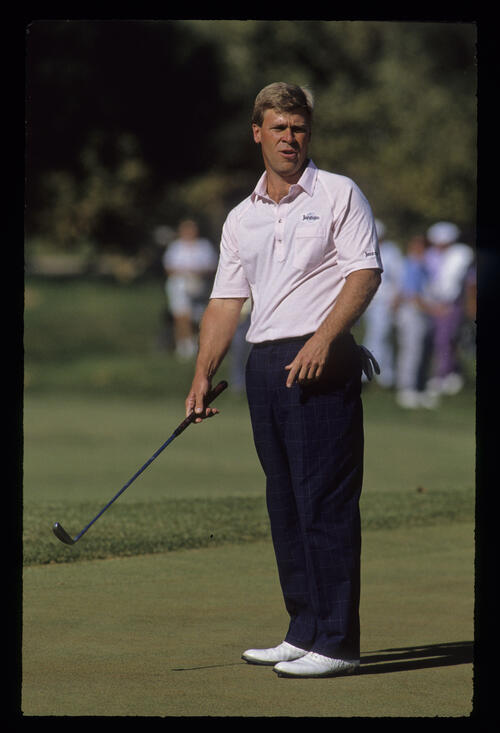 Hal Sutton bemoaning a missed putt during the 1989 RMCC