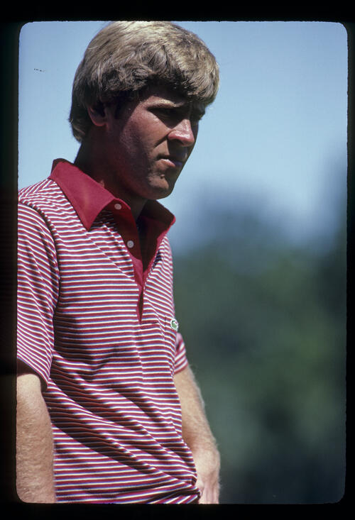 Hal Sutton looking thoughtful on his way to winning the 1983 TPC