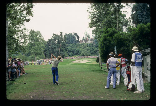 Hal Sutton teeing off on his way to winning the 1983 USPGA