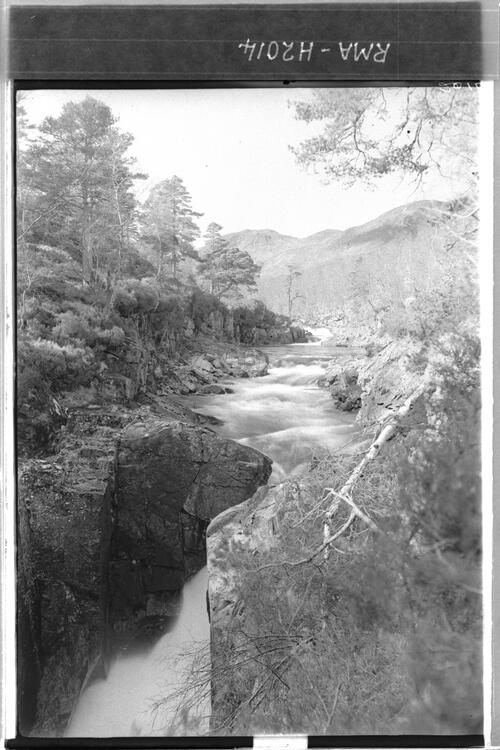 View of Dog falls, river Affric.