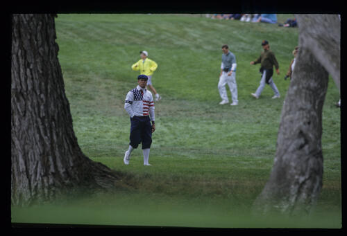 Payne Stewart among the trees during the 1992 US Open