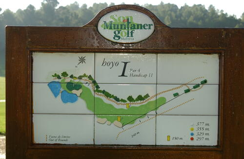 1st Hole, Son Muntaner Golf Course.