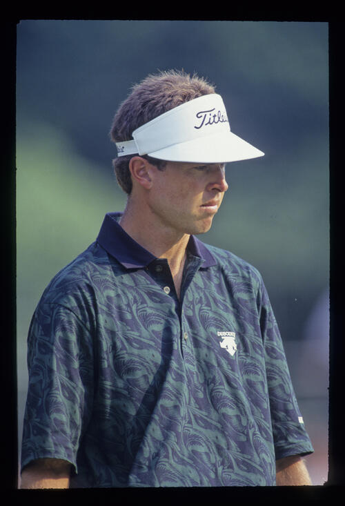 Bob Tway looking thoughtful during the 1993 US Open