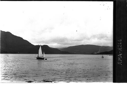 Loch Riddon with yacht.