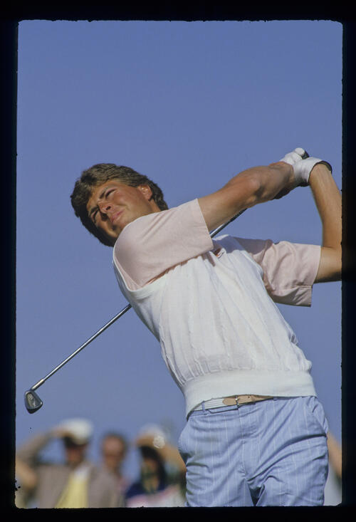Bob Tway following through during the 1987 Phoenix Open