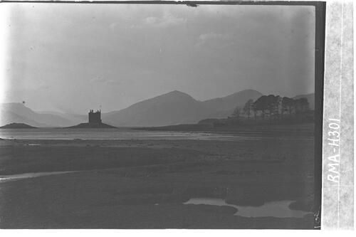 Castle Stalker and Loch Linnhe.