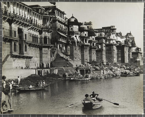 View of Benares and the river Ganges