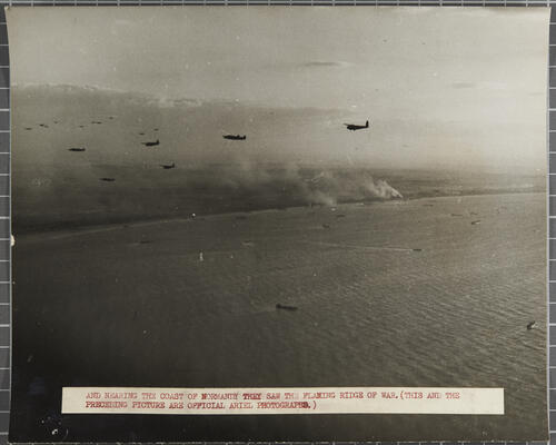 Liberation of Europe: RAF gliders and tug aircraft cross French coast on evening of June 6, as landing craft disembark more troops on beaches