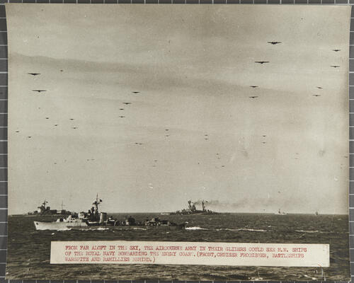 Liberation of Europe: cruisers job off the Normandy coast