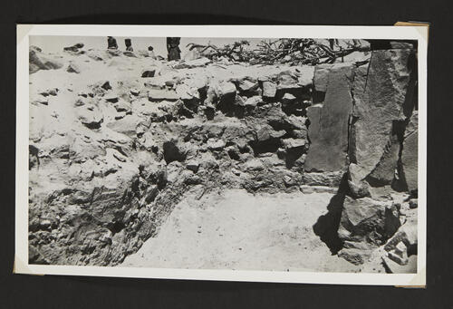 [Excavations in the desert, detail of a wall]