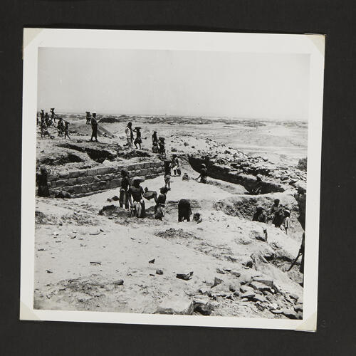 [Labourers at work on excavations in the desert]