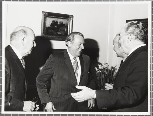 Visit by Lord Crowther Hunt to University House, March 1976