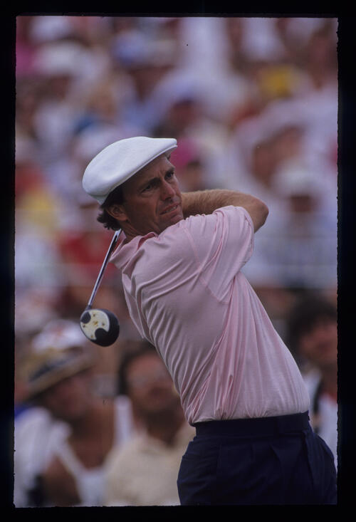 Jerry Pate following through during the 1991 US Open