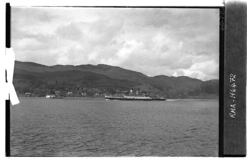 Steamer, Kyles of Bute.
