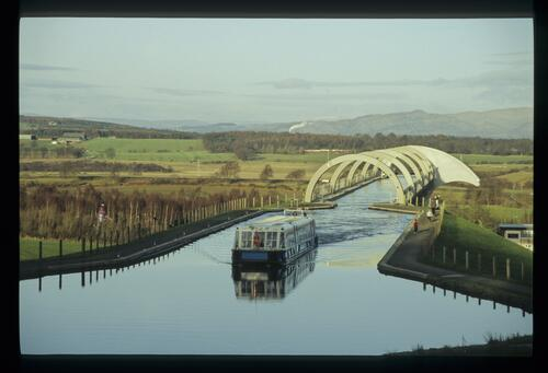 Above the Falkirk Wheel.