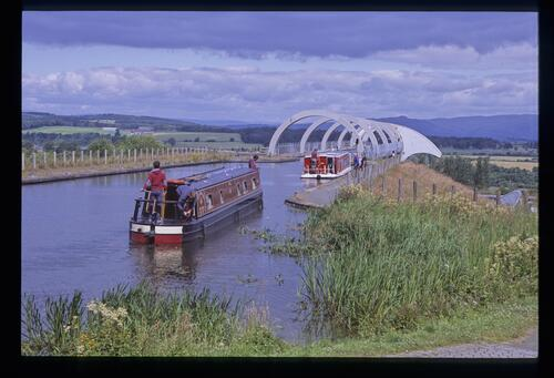 Waiting for the Falkirk Wheel Aqueduct, Union Canal.