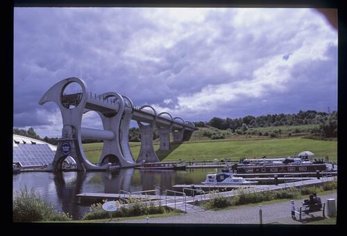 The Falkirk Wheel [and Visitor Centre], Union Canal.