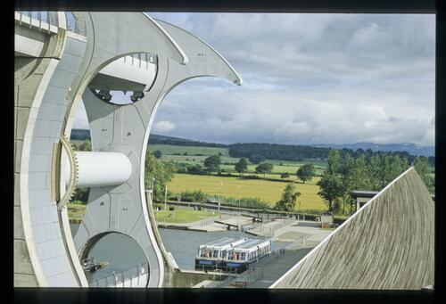 The Falkirk Wheel and Visitor Centre.