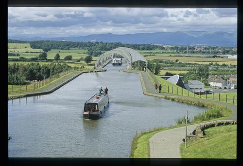 [Above] the Falkirk Wheel.